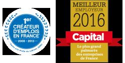 Premier créateur d'emploi de France et Meilleur employeur 2015